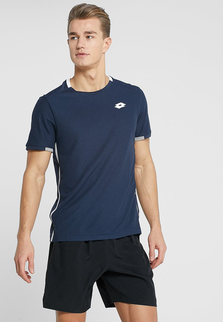 Lotto - TENNIS TEAMS TEE - Print T-shirt - navy blue