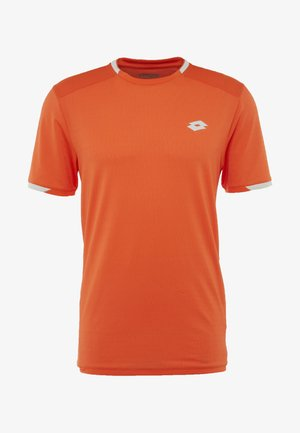 TENNIS TECH TEE - T-shirt med print - red orange