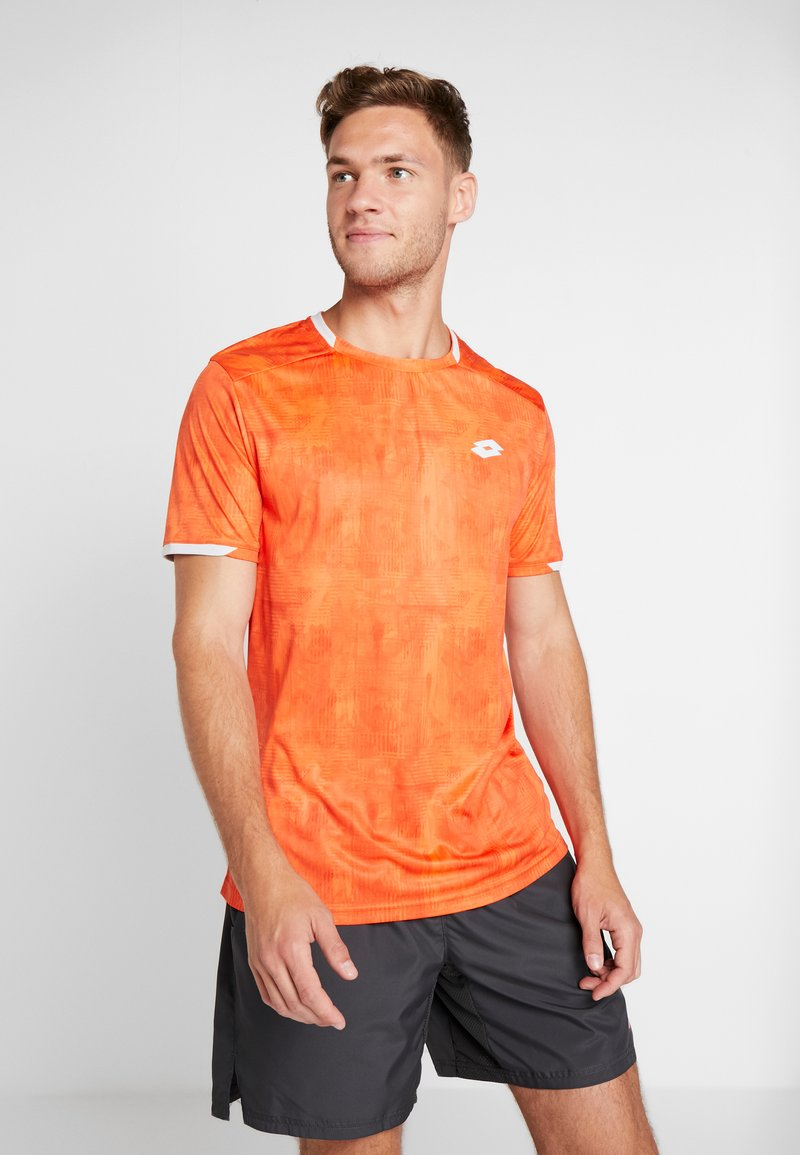 Lotto - TOP TEN TEE - T-shirt imprimé - red orange
