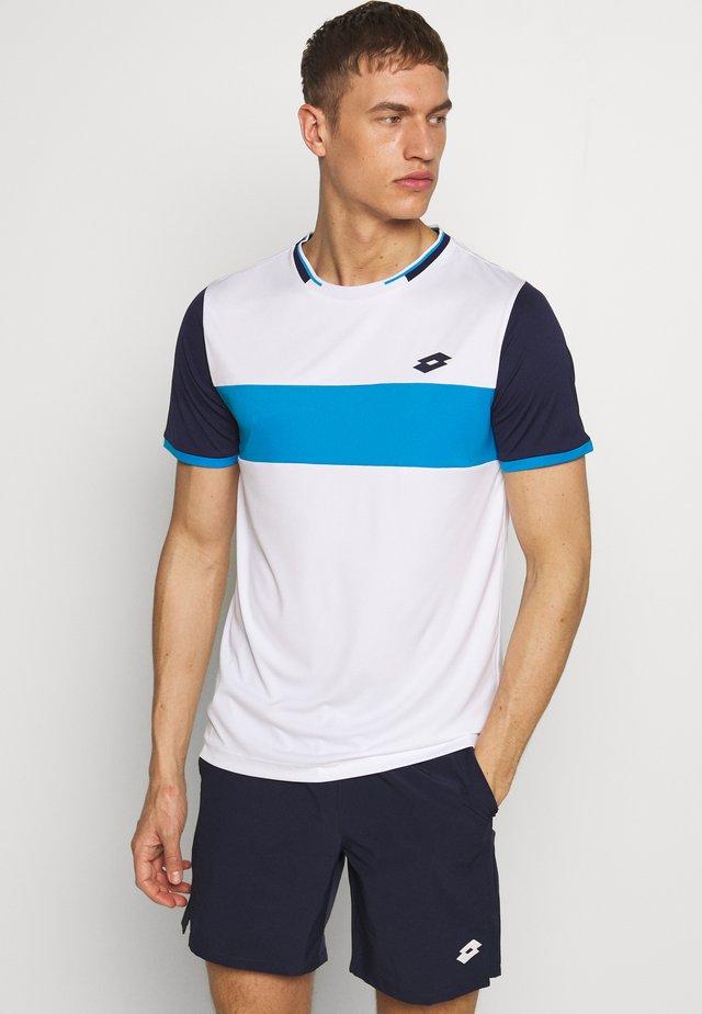 TOP TEN TEE - T-shirts med print - bright white/navy blue