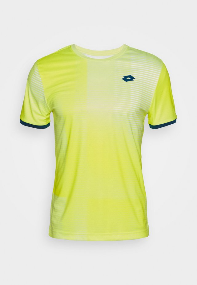 TOP TEN TEE - Print T-shirt - yellow neon