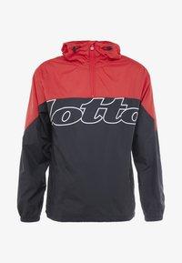 Lotto - ATHLETICA JACKET - Veste de survêtement - all black/flame red - 5