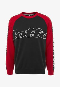 Lotto - ATHLETICA - Sweatshirt - all black/flame red - 4