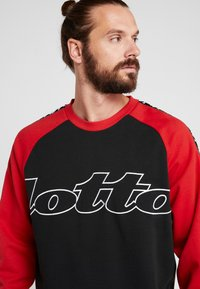 Lotto - ATHLETICA - Sweatshirt - all black/flame red - 5