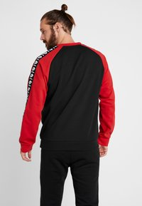 Lotto - ATHLETICA - Sweatshirt - all black/flame red - 2