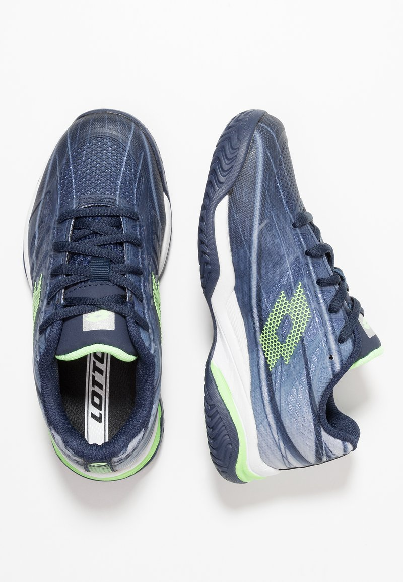 Lotto - MIRAGE 300 - Multicourt tennis shoes - navy blue/green apple neo/silver metal