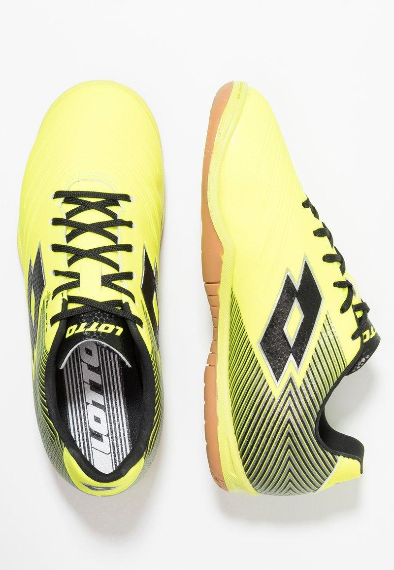 Lotto - SOLISTA 700 II ID - Scarpe da calcetto - safety yellow/all black/silver metal