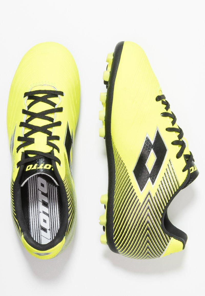 Lotto - SOLISTA 700 II AGM - Fußballschuh Nocken - safety yellow/all black/silver metal