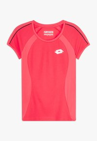 Lotto - SQUADRA TEE  - T-shirt con stampa - red fluo - 0