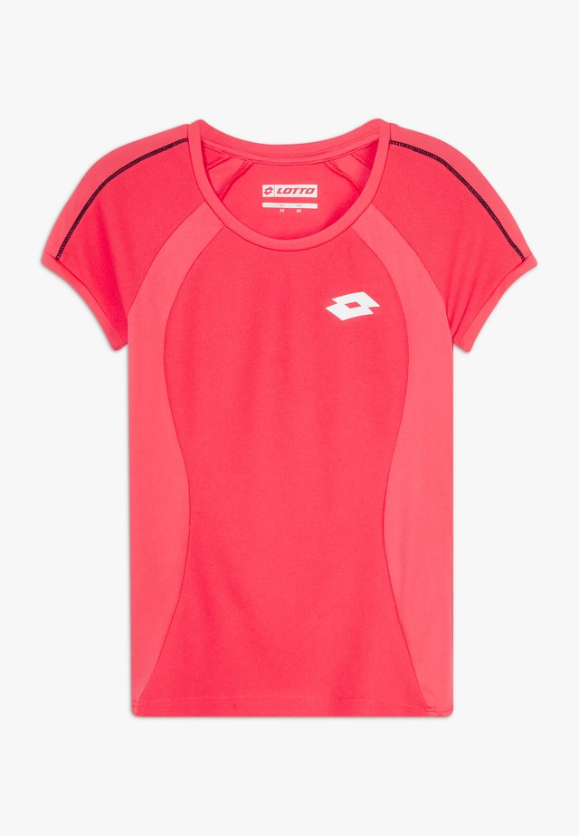 SQUADRA TEE  - Print T-shirt - red fluo