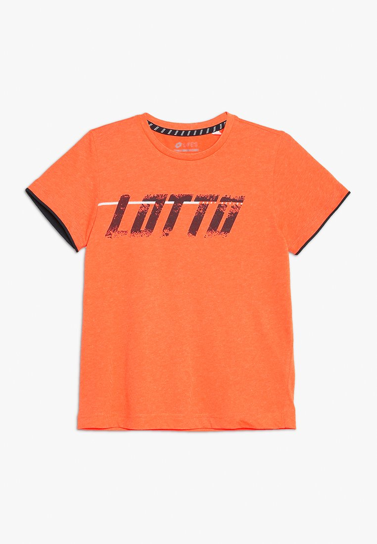 Lotto - LOGO TEE - T-Shirt print - fanta fluo