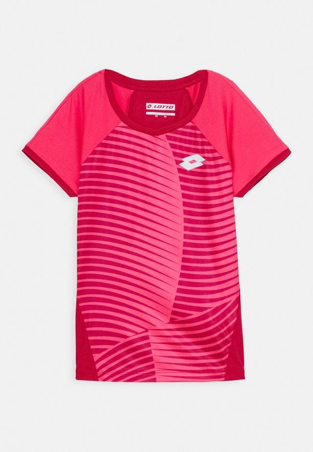 TEE - T-shirt z nadrukiem - vivid fuchsia/glamour pink