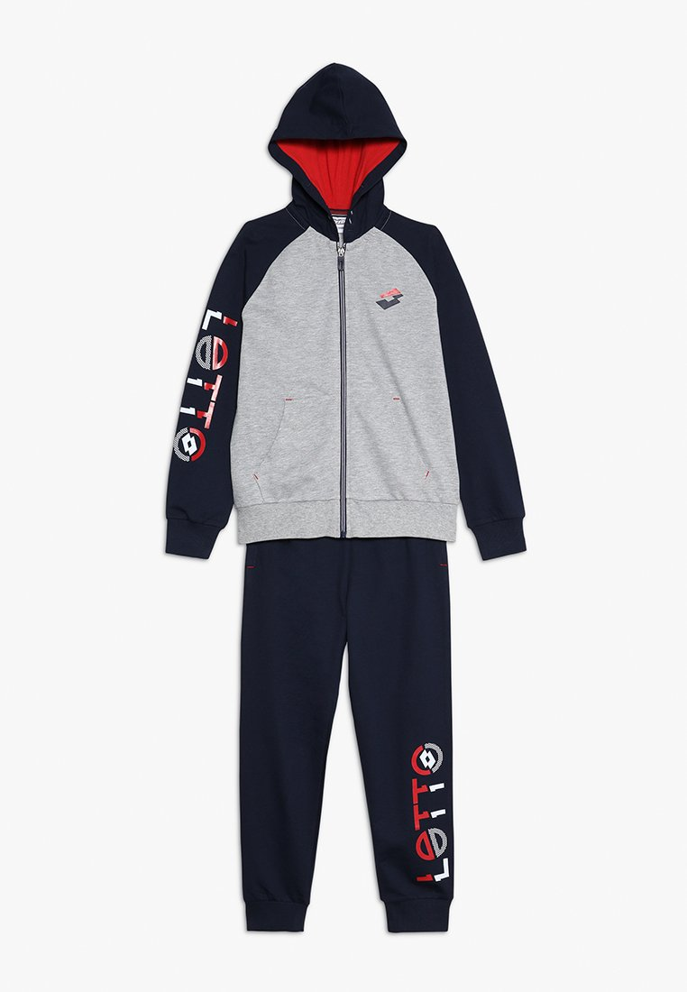 Lotto - SUIT - Tracksuit - cool grey/navy blue
