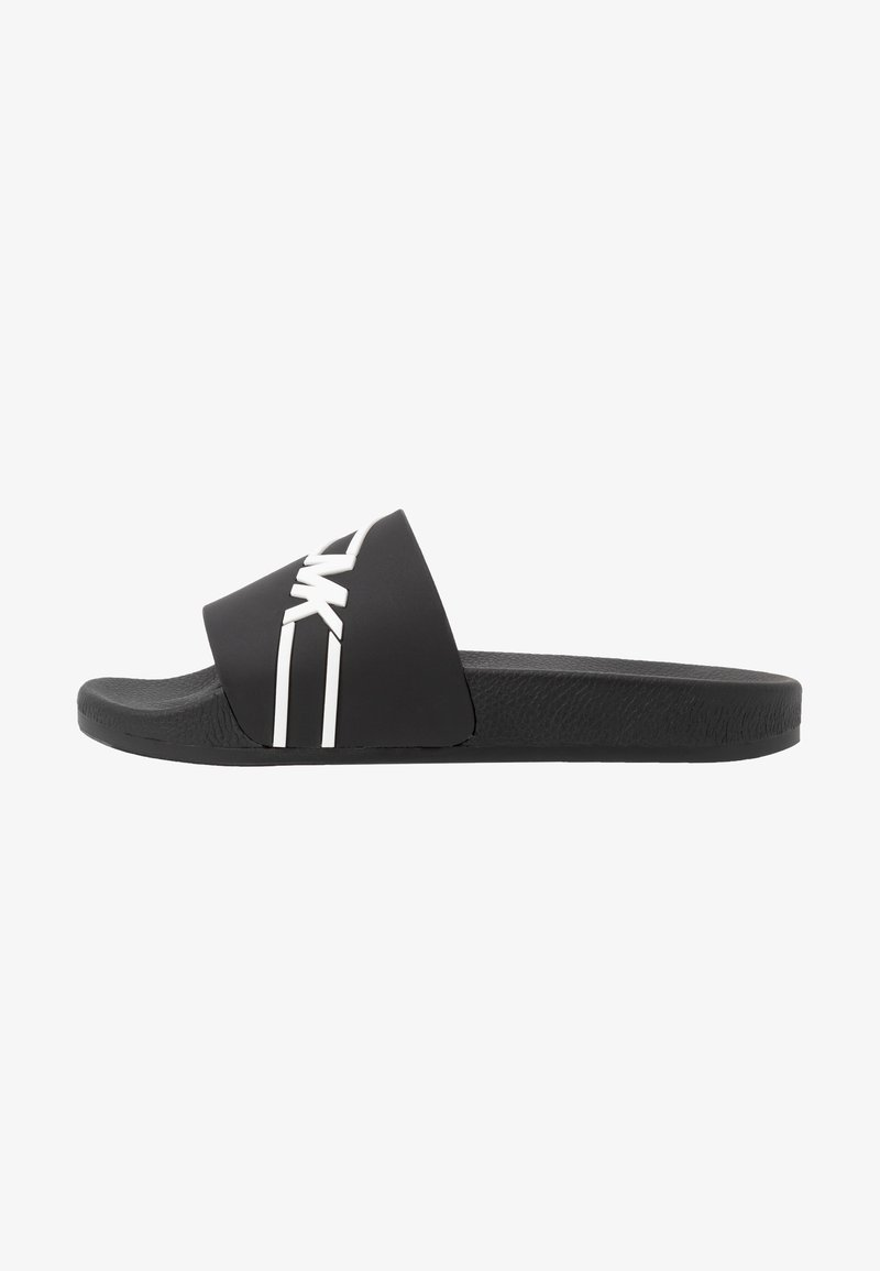 Michael Kors - JAKE SLIDE - Ciabattine - black/white