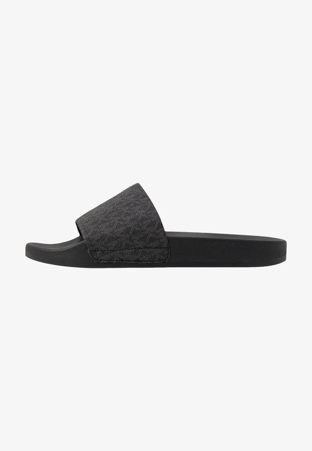 JAKE SLIDE - Sandalias planas - black