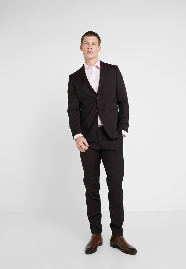 SLIM FIT SOLID SUIT - Kostuum - bordeaux