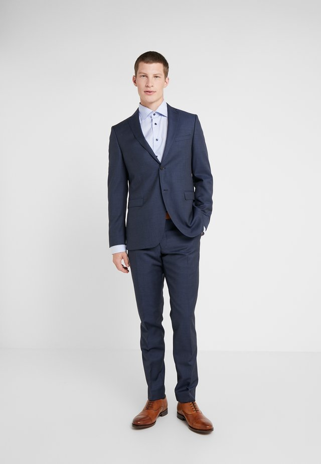SLIM FIT SOLID SUIT - Traje - navy