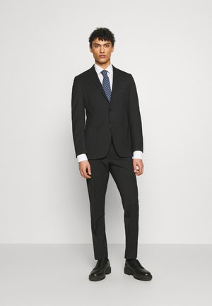 SLIM FIT SUIT - Garnitur - black