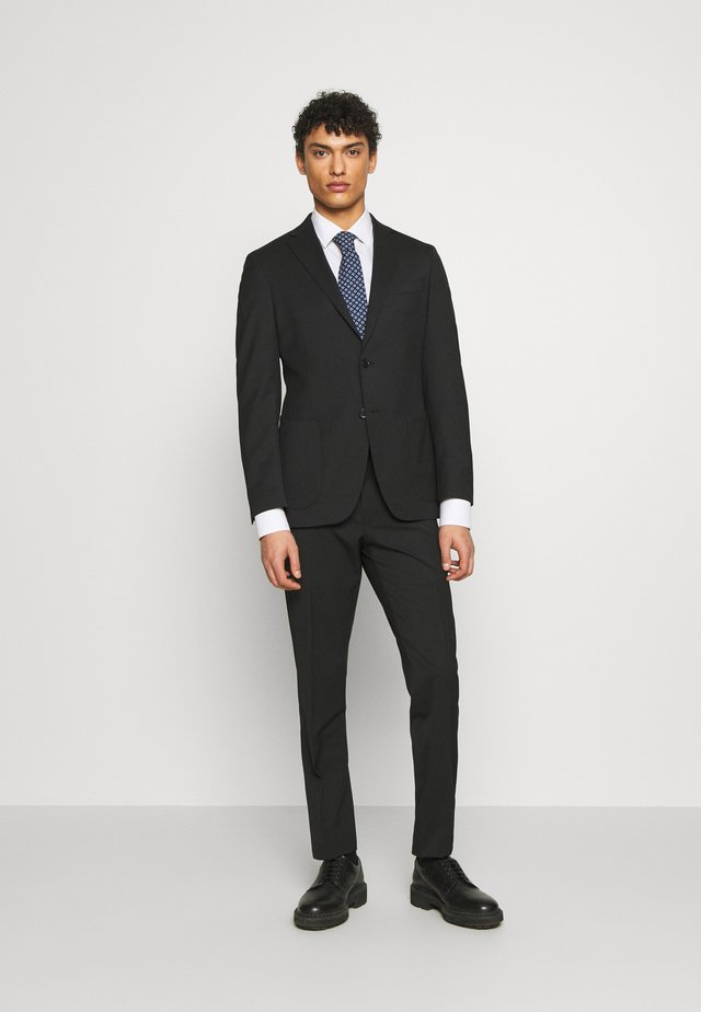 SLIM FIT SUIT - Kostuum - black