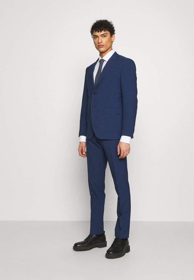 SLIM FIT MINICHECK SUIT - Traje - blue