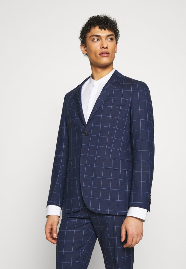 SLIM FIT CHECK SUIT SET - Kostuum - navy