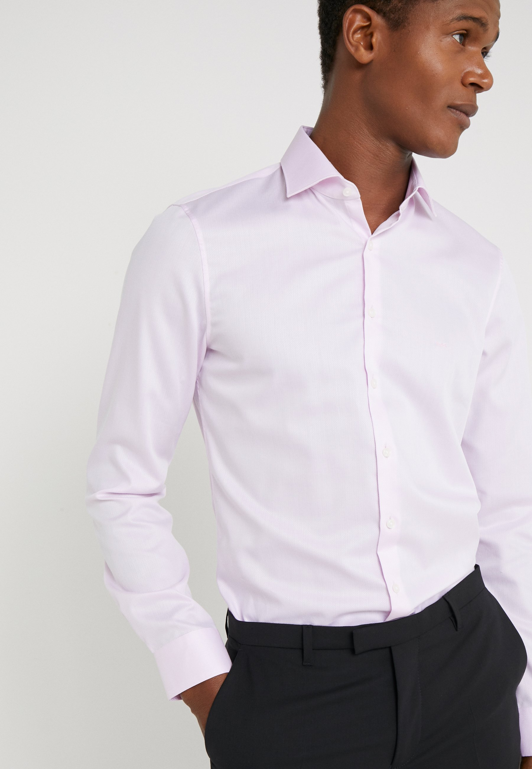 Michael Kors Parma Slim Fit Solid - Business Skjorter Pink