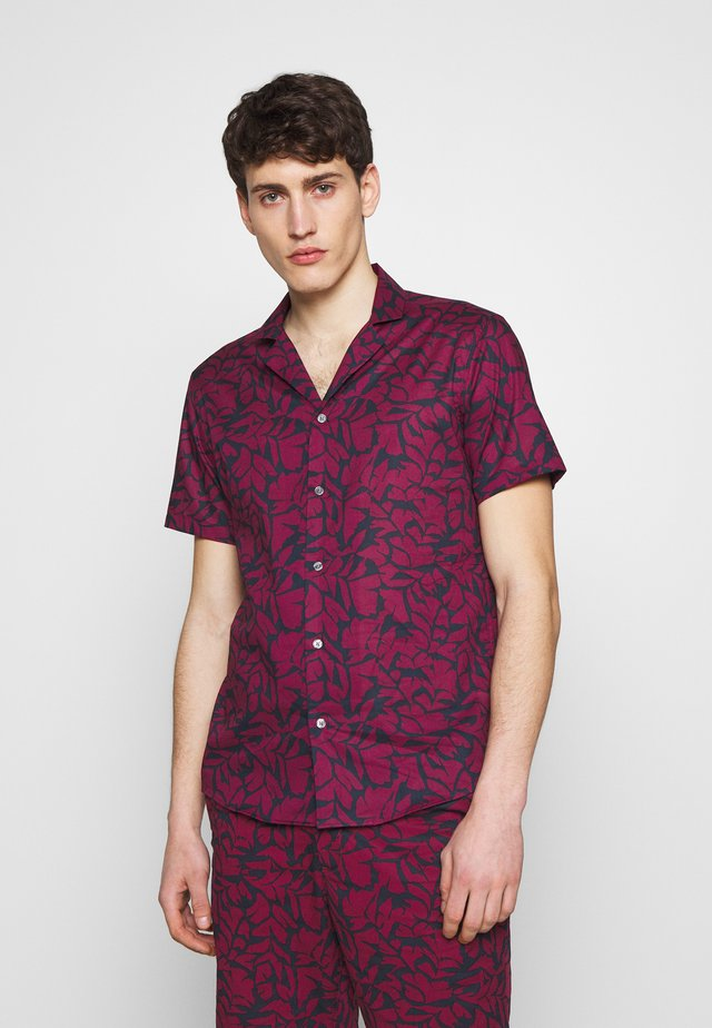 PRINT LAWN - Camisa - cassis