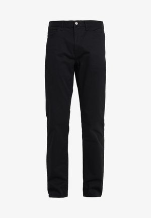 STRETCH BRUSHED PANT - Pantalones chinos - black