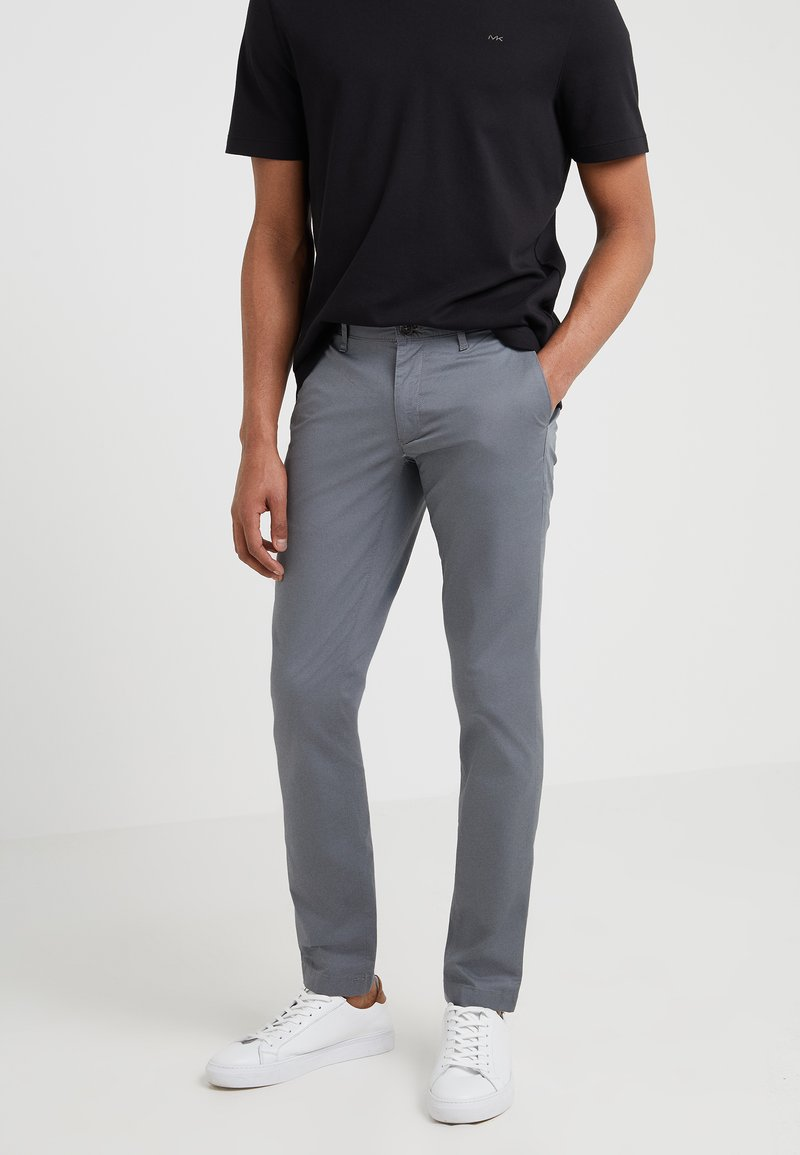 Michael Kors - GARMENT DYED - Chinos - storm