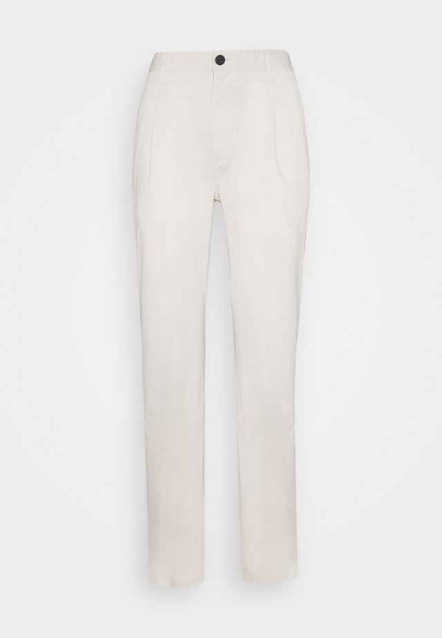 PAPER POP PLEAT PANT - Broek - canvas beige