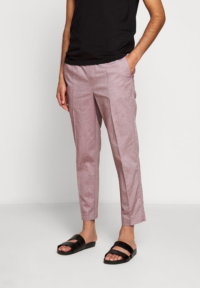OXFORD MODERN PANT  - Trousers - deep wine