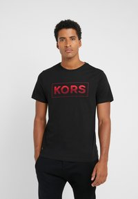 Michael Kors - GEL GRAPHIC TEE - Camiseta estampada - black - 0