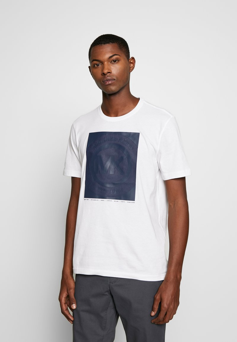 Michael Kors - RUBBER TEE - Print T-shirt - white