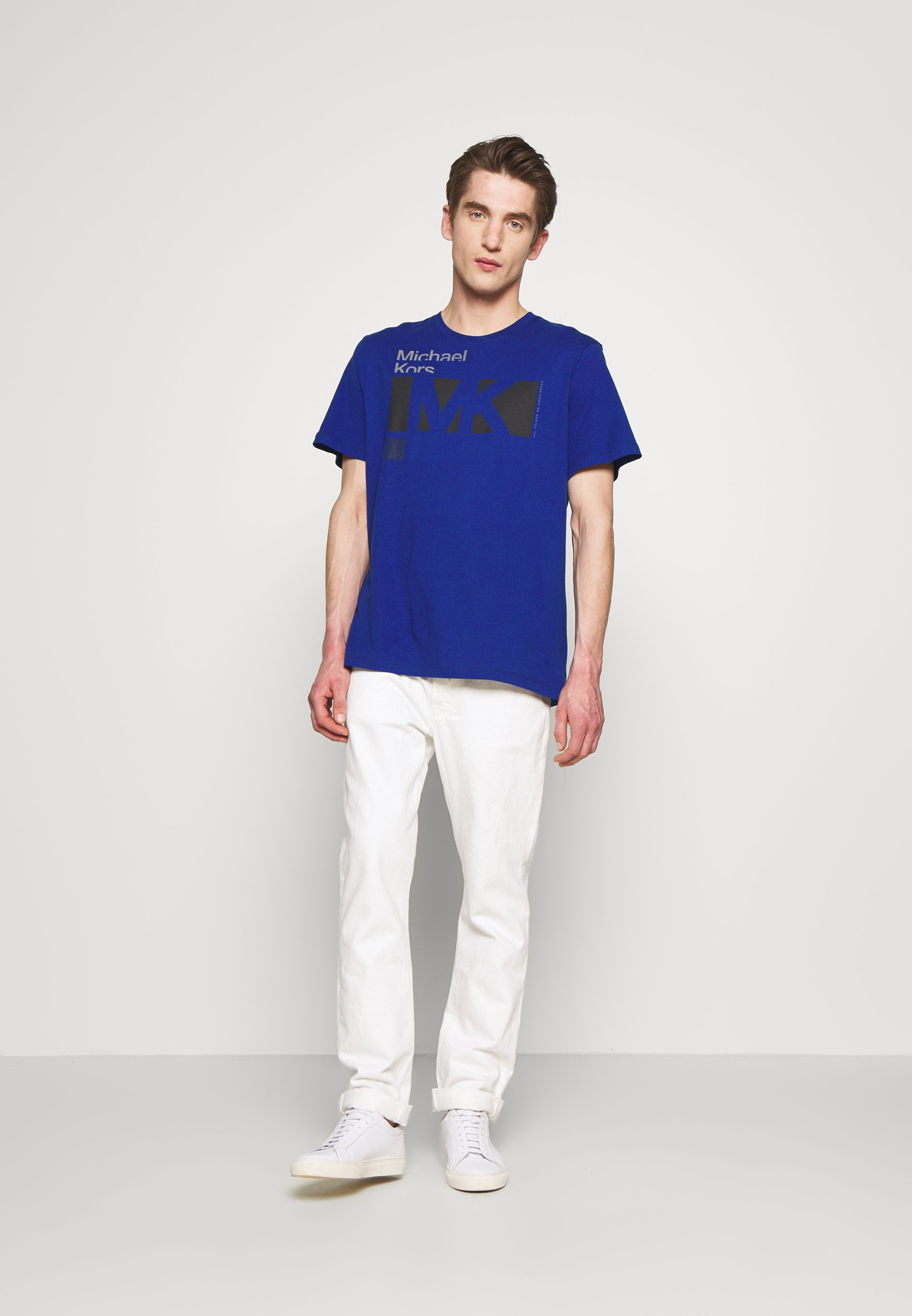 Michael Kors CITY TEE - T-shirt z nadrukiem - twilight blue