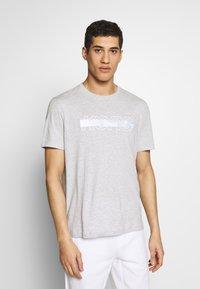 Michael Kors - REFLECTIVE SLASH TEE - T-shirts med print - heather grey - 0