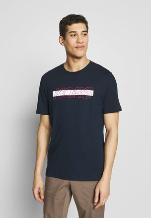 REFLECTIVE SLASH TEE - T-shirt con stampa - dark midnight