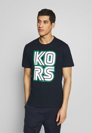 KORS TECHNO TEE - Camiseta estampada - dark midnight