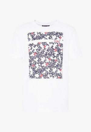 SCATTERED LOGO TEE - T-shirt imprimé - white