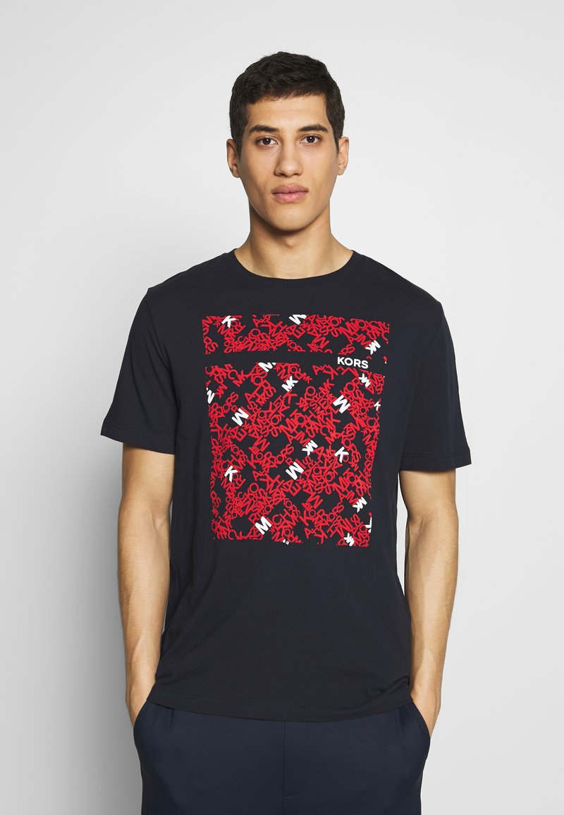 Michael Kors - SCATTERED LOGO TEE - T-shirt con stampa - dark midnight