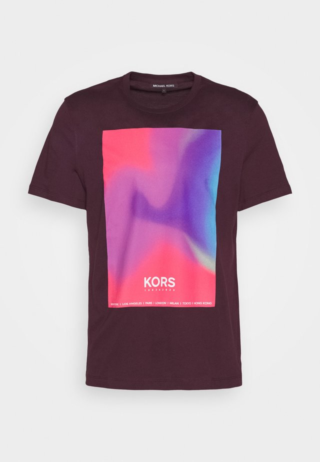 GRADIENT SUNSET - Print T-shirt - deep wine