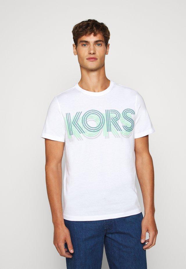 OPTICAL TEE - T-shirt imprimé - white