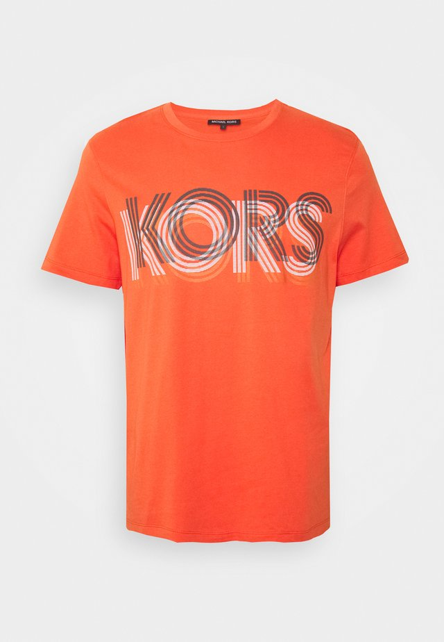 OPTICAL TEE - Print T-shirt - tangerine
