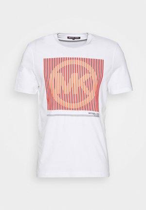 TONAL TEE - Print T-shirt - white