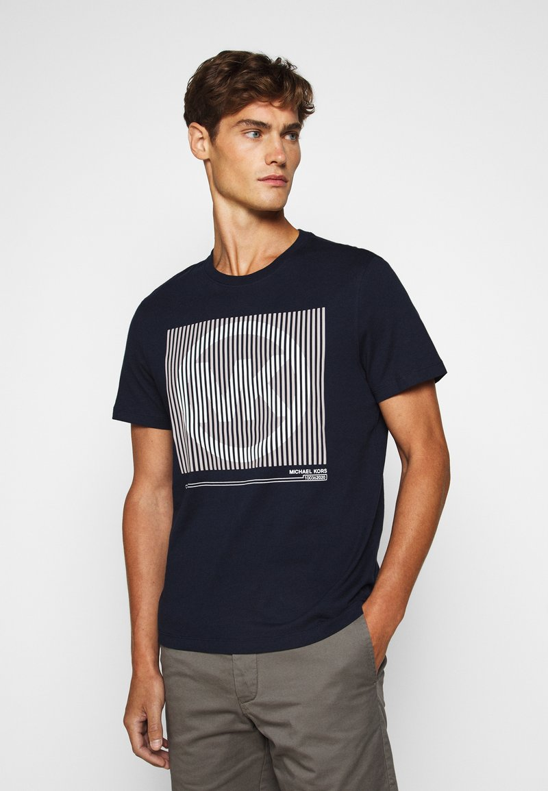 Michael Kors - TONAL TEE - Print T-shirt - dark midnight