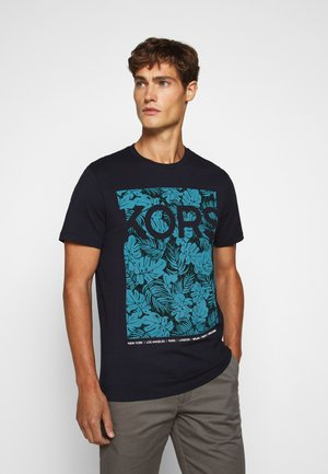 PALM TEE - T-shirt z nadrukiem - dark midnight