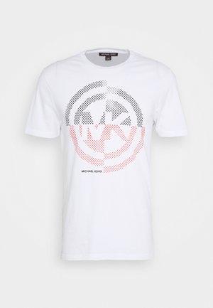 TARGET TEE - T-shirt z nadrukiem - white