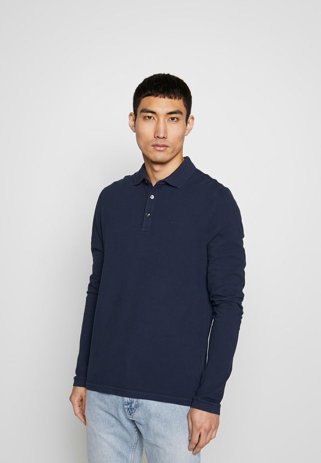 GARMENT DYE - Polo shirt - midnight