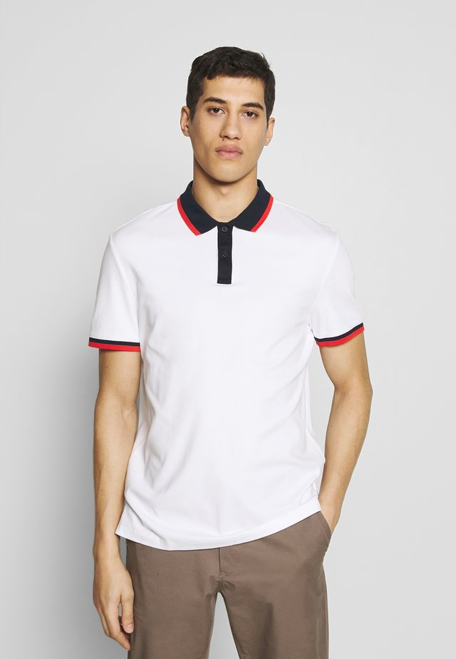 EDGE TIPPED - Polo - white