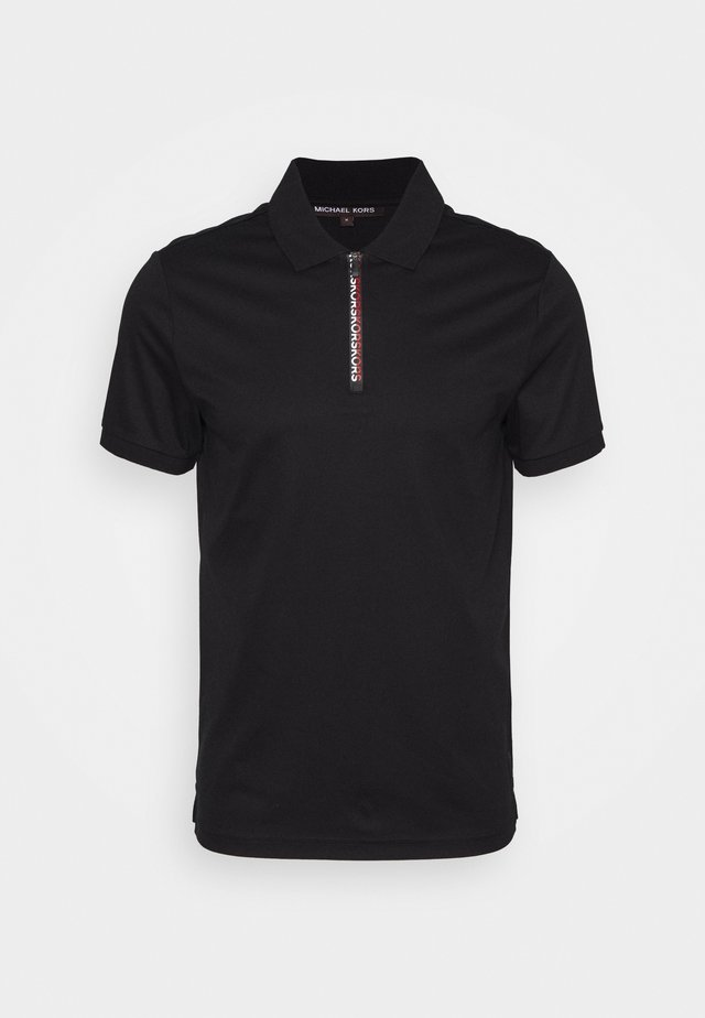LOGO ZIP - Polo shirt - black