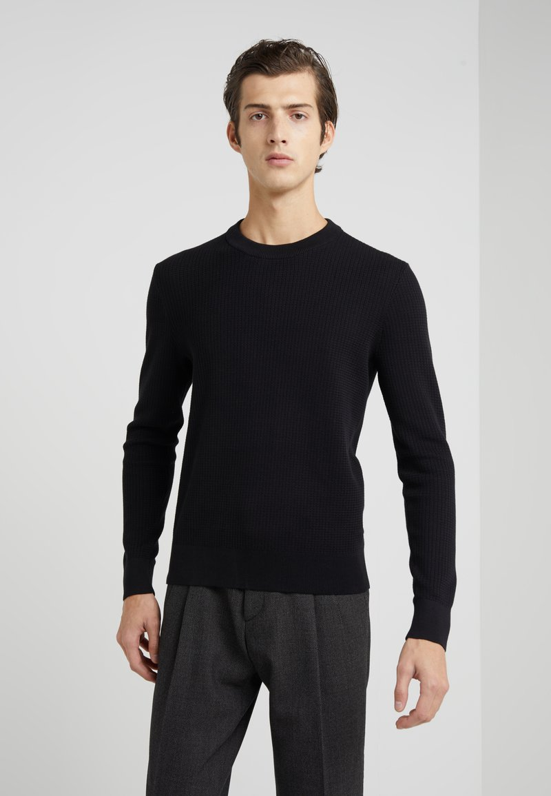 Michael Kors - ZIGZAG STITCH CREW NECK SWEATER - Sweter - black